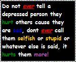 Dont tell a depressed person......Stamp by Shy-Little-Wolf-Pup