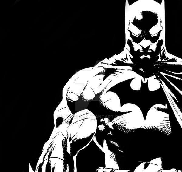 Batman black n white by razorig2