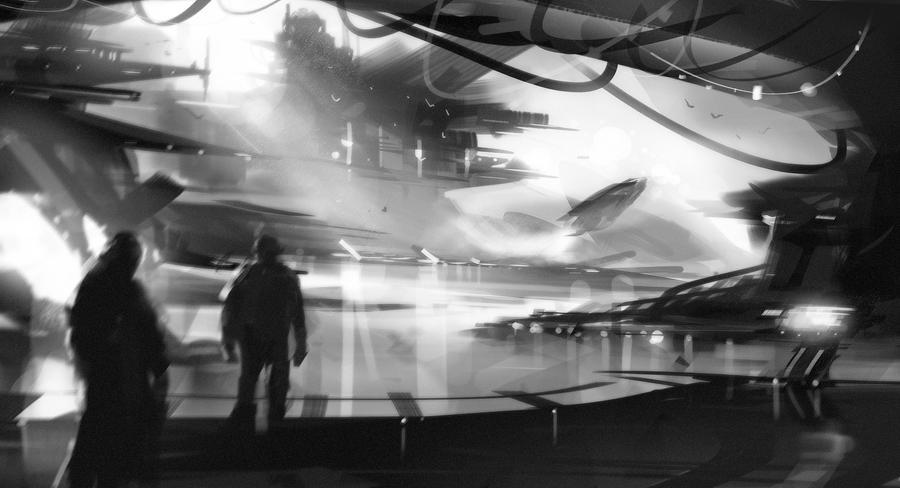Sci-Fi Study by UlricLeprovost