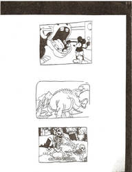 Classic cartoon sketches