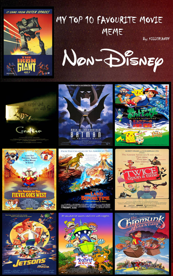 My Top 10 Non-Disney animated films by ToonEGuy on DeviantArt