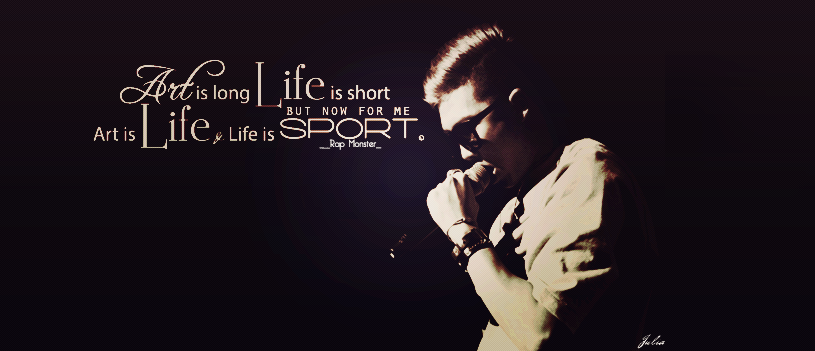bts rap monster quote cover by strawlia on deviantart