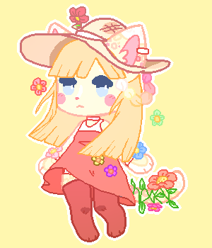 [ADOPT] Flower gal (OPEN) by Bearonia