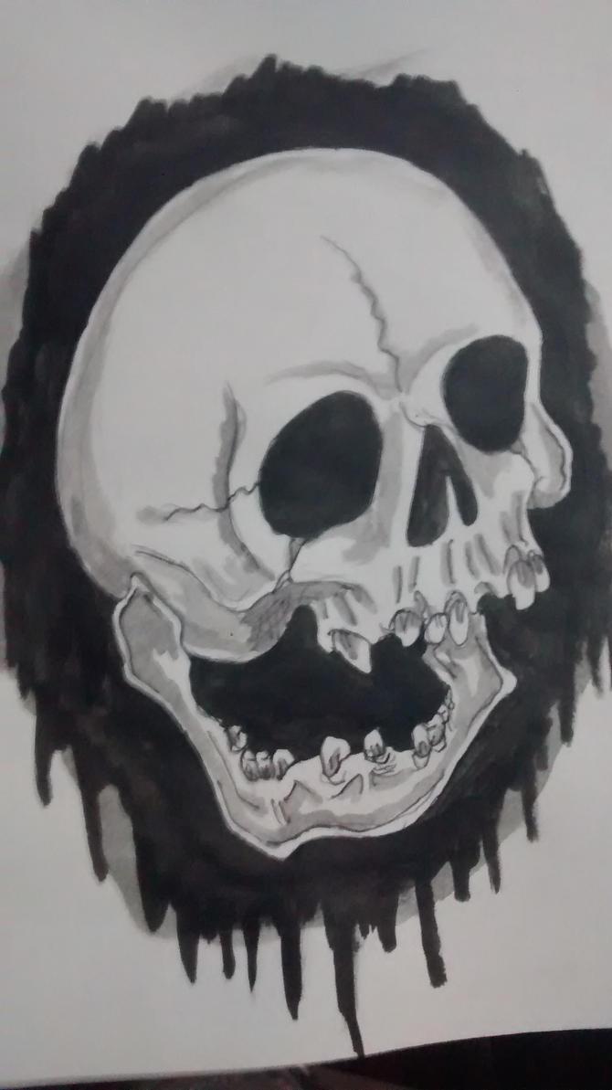 old skull by Daniel-Peniche