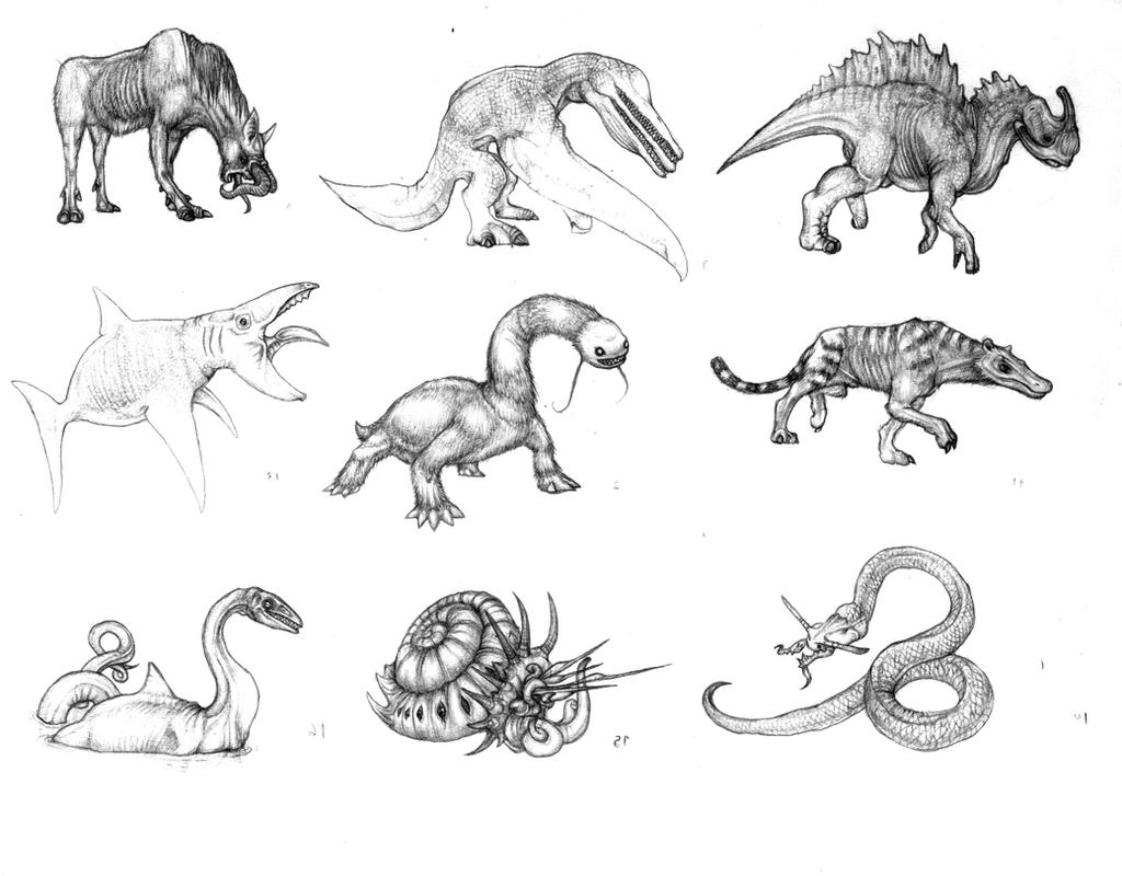 Fantastic fauna by Rodrigo-Vega