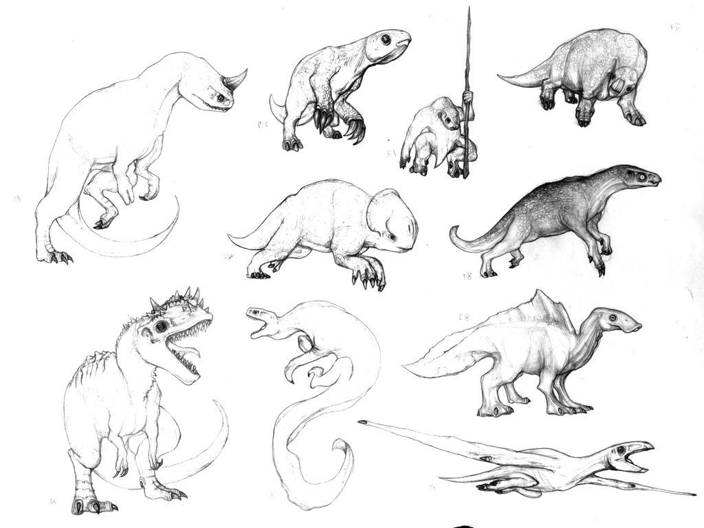 Plasticine dinosaurs by Rodrigo-Vega