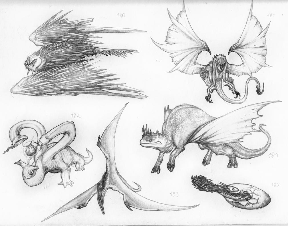 WAM BAM ZAM ZAM (Zambie's Characters) Pseudo_dragons__by_IRIRIV