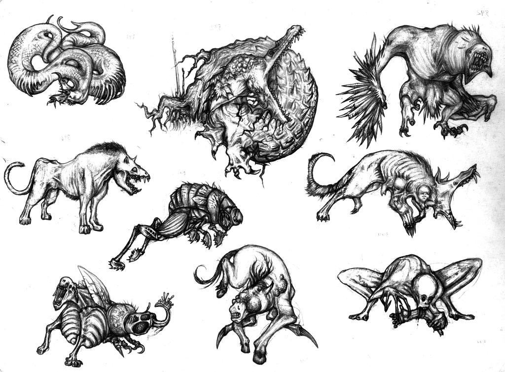 Mutant Monster Thing Sketch by Kezef on DeviantArt
