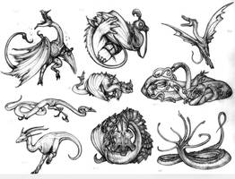 Crypto... pseudo-dragons by Rodrigo-Vega