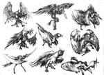 Giant birds... sort of things.