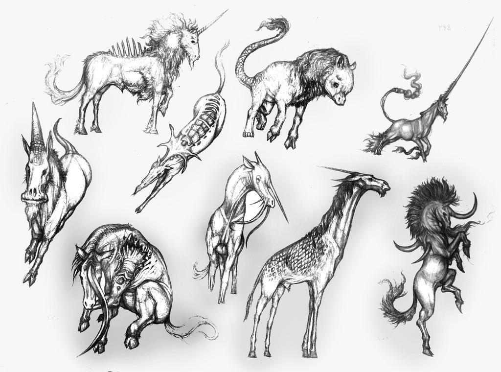 WAM BAM ZAM ZAM (Zambie's Characters) Unicorns_and_Qilins_by_IRIRIV