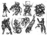 Horror film monsters