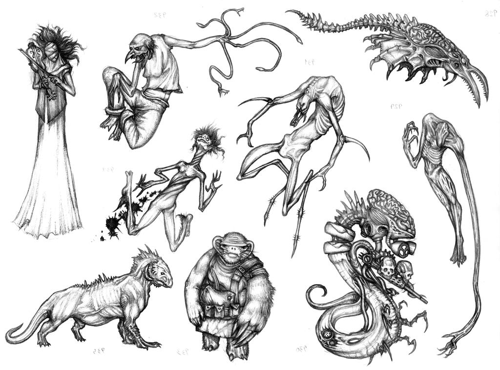 Mutant Monster Thing Sketch 41332054 also How To Draw Michael Myers Easy further Imagesgkl Show Lamb Outline likewise Totenkopf Wandtattoo Skull Walltattoo MO08 further Tranh To Mau Cho Be 3 Tuoi. on scary dog to draw