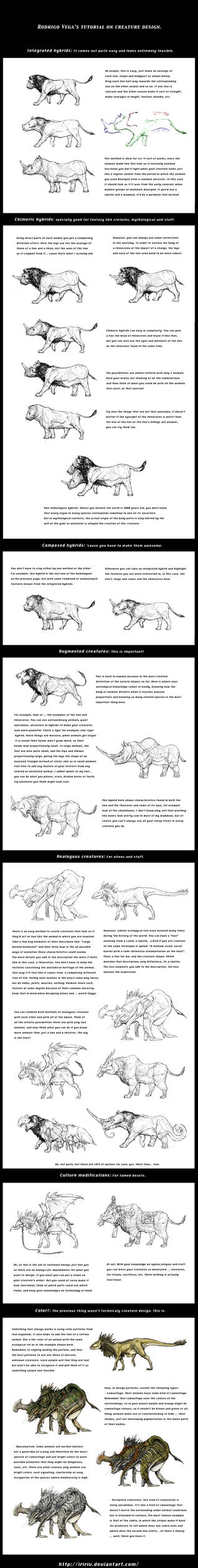 Tutorial on creature design.
