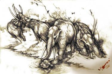 Stegomastodon platensis by Rodrigo-Vega