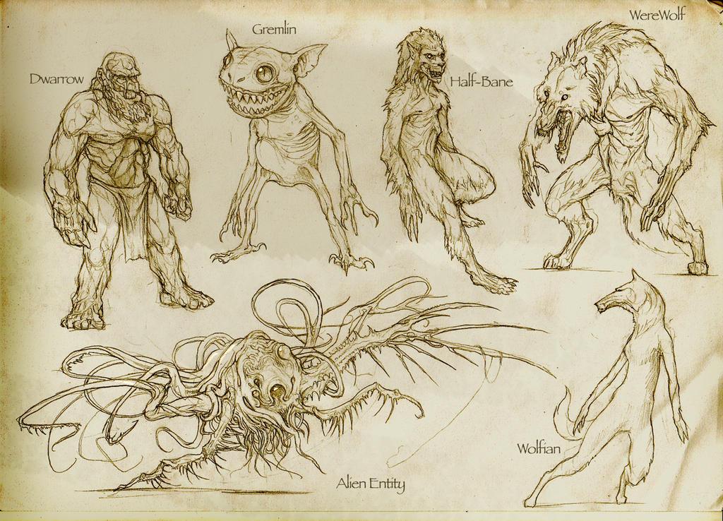 More races and monsters by Rodrigo-Vega