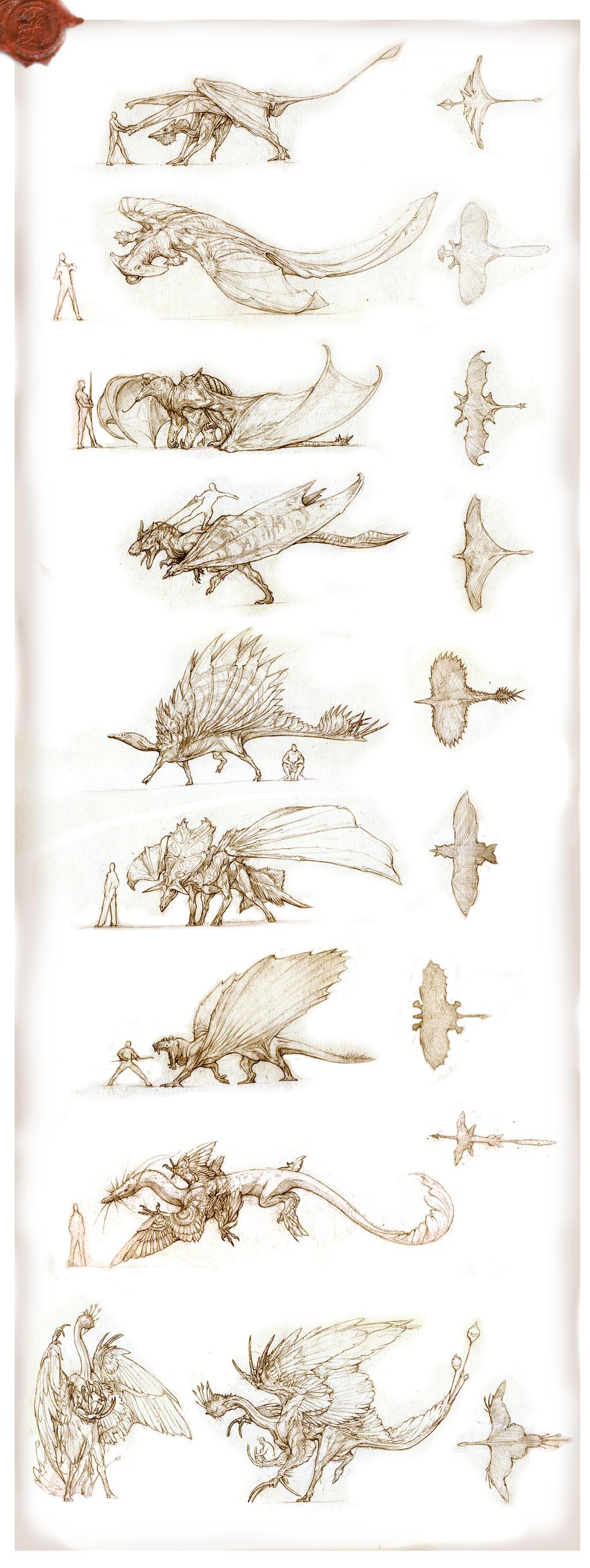 Prehistoric Dragons 2 by Rodrigo-Vega