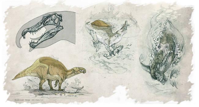 Spinosaurus aegyptiacus All Yestered by Rodrigo-Vega