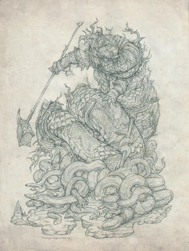 Ophidian Sloth by Rodrigo-Vega