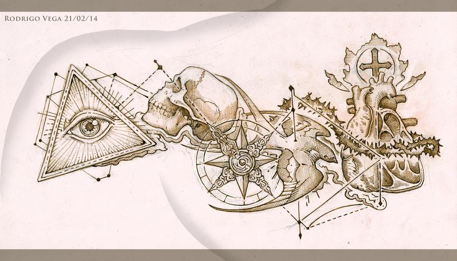 Chest And Shoulder Tattoo Design By Rodrigo-Vega On DeviantArt