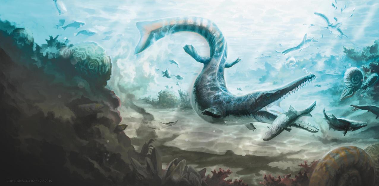 Cricosaurus Scene by Rodrigo-Vega