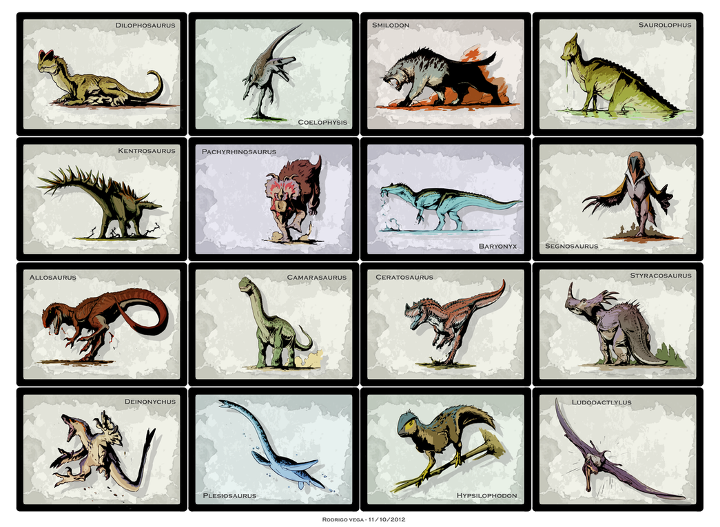 Dino Cards by Rodrigo-Vega