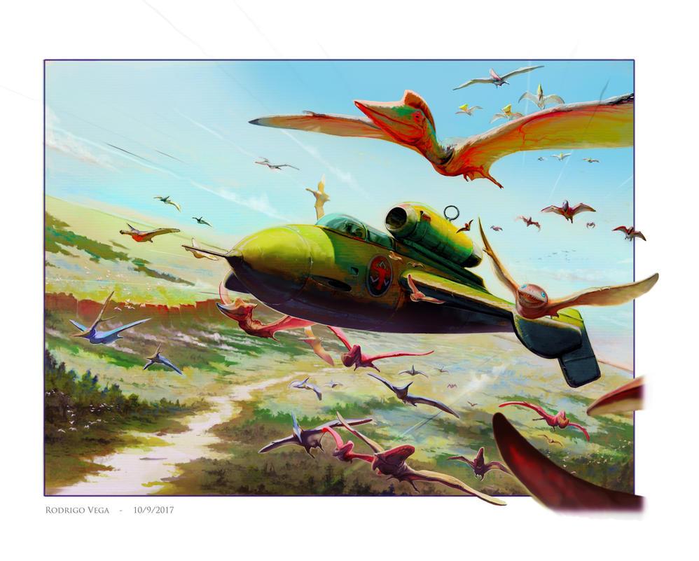 Flight of the Auroch by Rodrigo-Vega