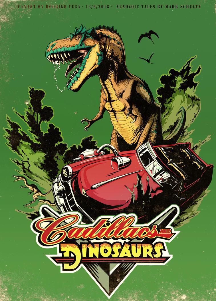 Cadillacs and Dinosaurs! by Rodrigo-Vega