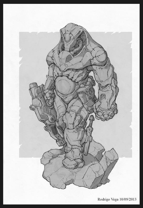 Humanoid Soldier by Rodrigo-Vega