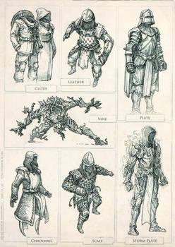 Quest Armor Sets by Rodrigo-Vega