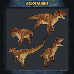 Jurassic Park Revolution: Allosaurus.