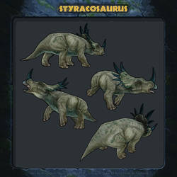 Jurassic Park: Revolution - Styracosaurus.