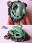 Dragon with an egg