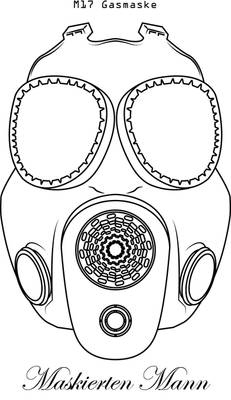 M17 vectorized Gas Mask