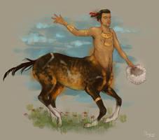 Turkmen x Akhal teke the centaur by sypsau