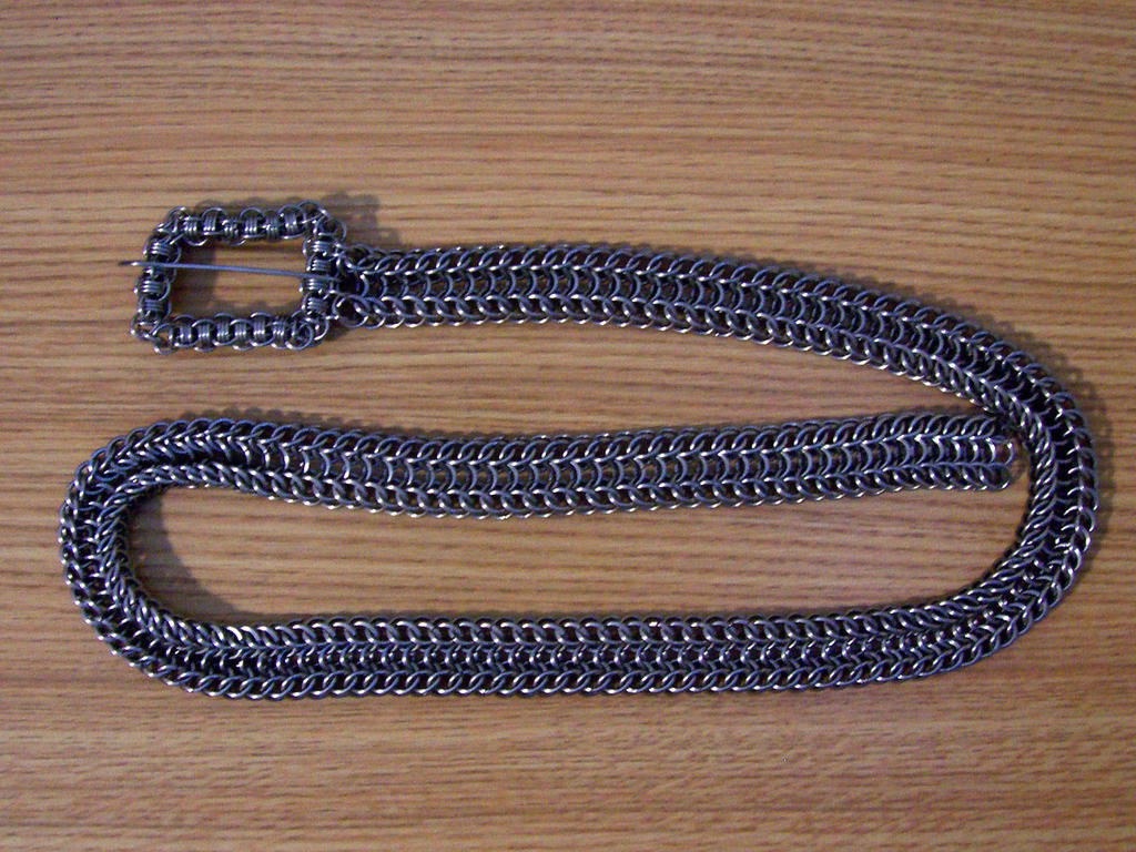 Chainmaille Belt by SkepticRaven