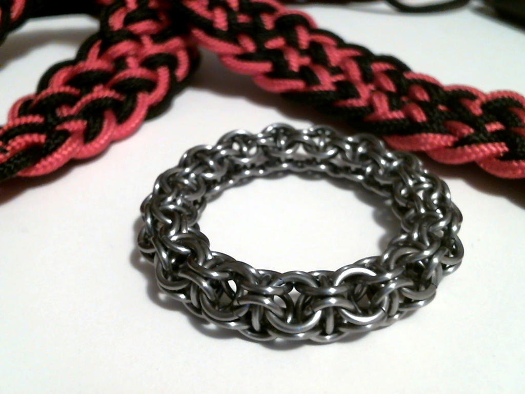Unassembled Paracord and Chainmaille Ring Belt by SkepticRaven