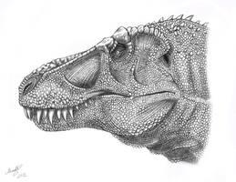 Tyrannosaurus Rex head by MALvit