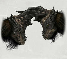 Two horny Pachycephalosaur by MALvit