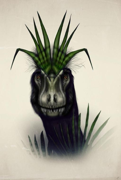 Cryolophosaurus with unusual comb by MALvit