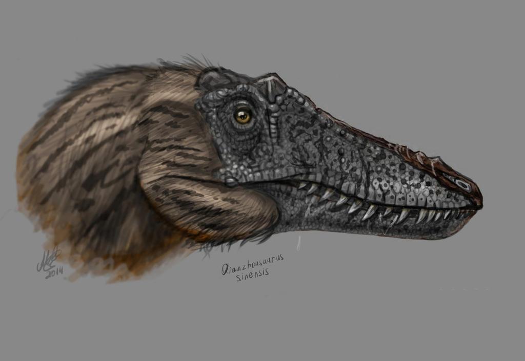 Qianzhousaurus sinensis sketch by MALvit