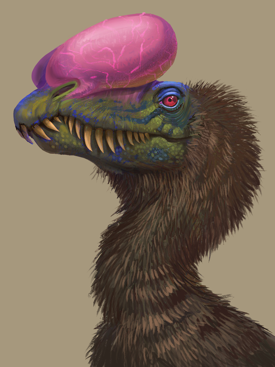 Dilophosaurus with  air  pockets