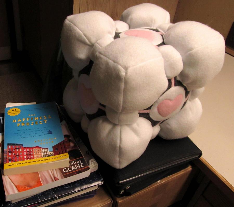 Companion Cube Plushie by chibiryu92