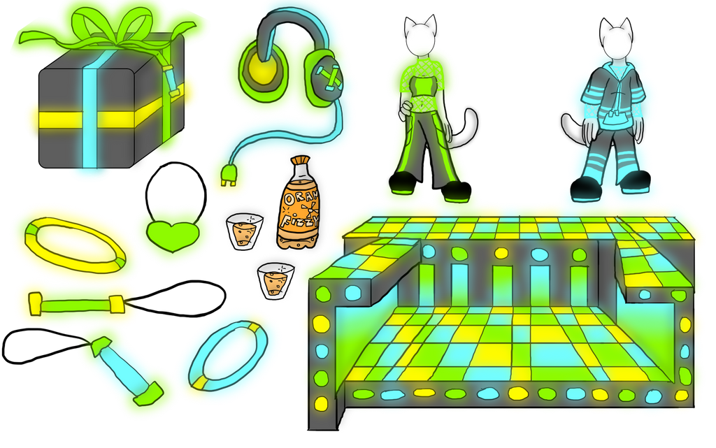 The Glowstick Items Have Been Revealed! by FaithLeafCat