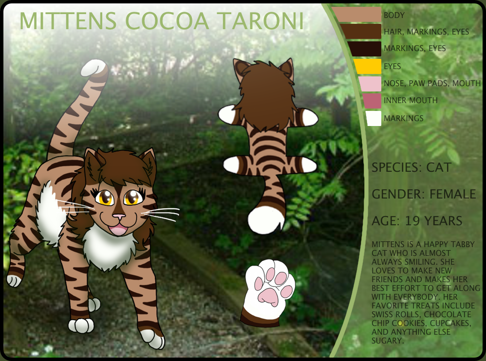 Mittens Reference Sheet 2016 by FaithLeafCat