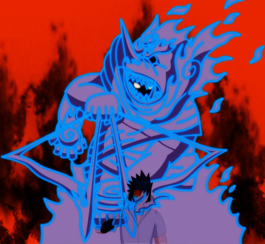 sasuke susanoos new form by monkeyman89 on deviantart