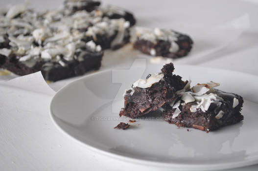 Primal/Paleo coconut brownies made with sweet pota