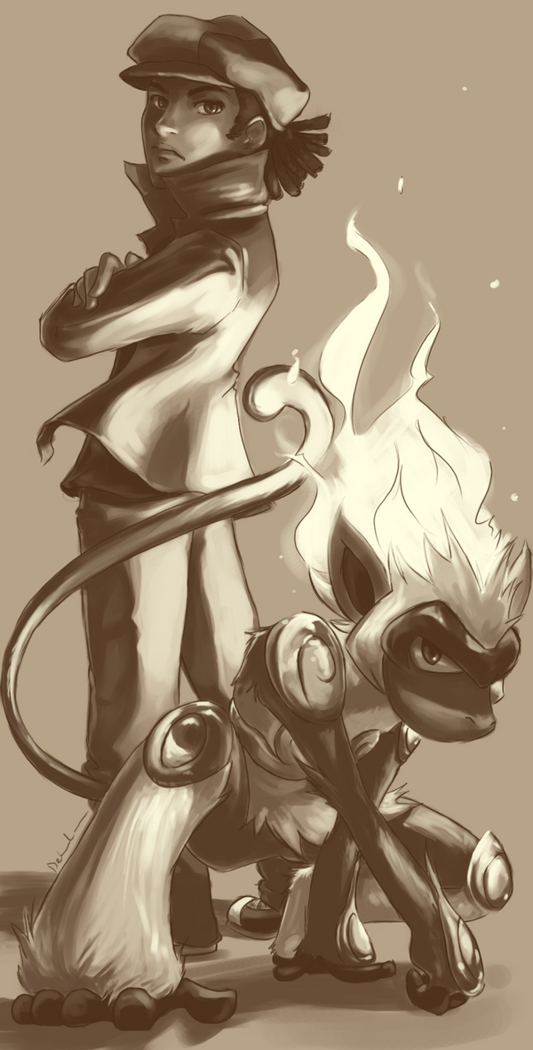 Gonryu - Os Cinco Dragões. Sketch_for_Bjizzle85_by_Delano_Laramie