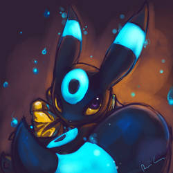 Speedpaint: Umbreon by Delano-Laramie