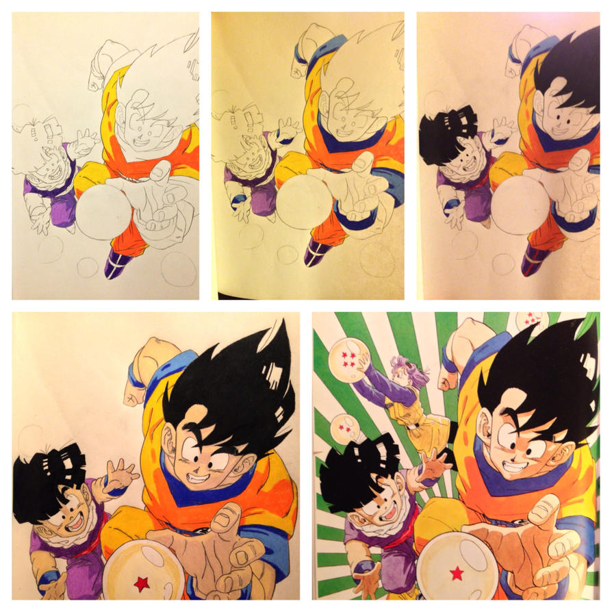Dragonball Z color pencil study by Dirtloneous on DeviantArt
